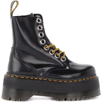 Shoes Women Ankle boots Dr Martens Jadon Max amphibious boot made of black leather Black