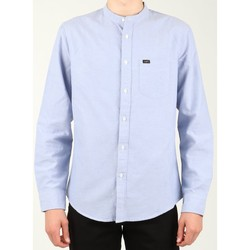 Clothing Men Long-sleeved shirts Lee Bandcollar Blue L67JITSF blue
