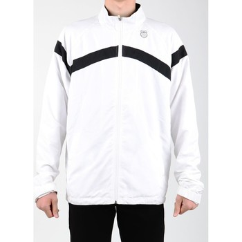 Clothing Men Track tops K-Swiss Accomplish WVN JCKT 100627-102 white, black