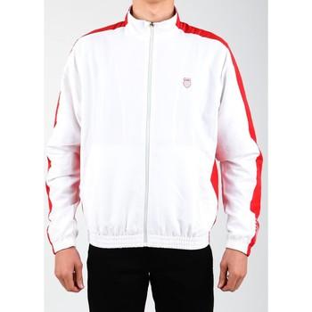 Clothing Men Track tops K-Swiss Accomplish Jacket 100250-119 white, red