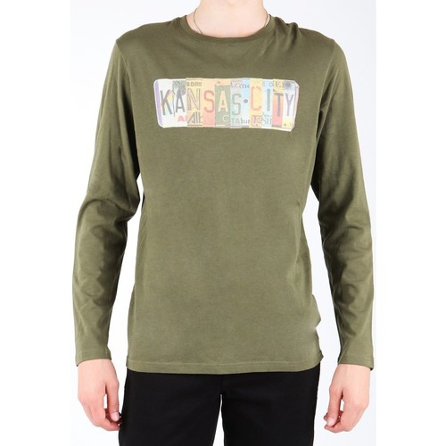 Clothing Men Long sleeved tee-shirts Lee L848AI olive green