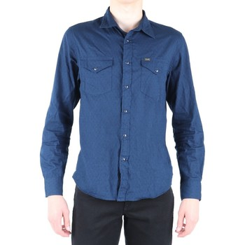 Clothing Men Long-sleeved shirts Lee Western Shirt L664IBPS navy