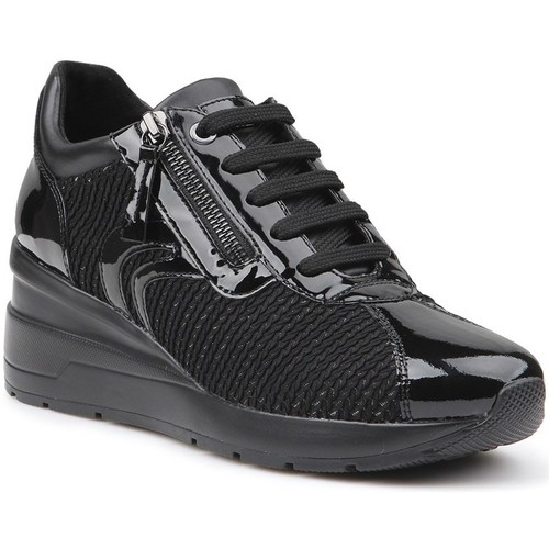 Shoes Women Low top trainers Geox D Zosma A Black