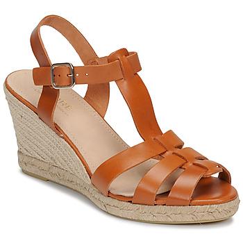 Shoes Women Sandals André BABORD Cognac
