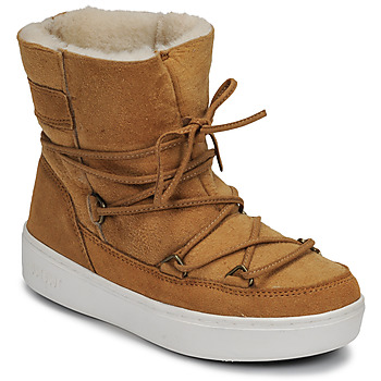 Shoes Girl Snow boots Moon Boot JR GIRL SHEARLING Brown