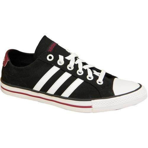 Shoes Children Low top trainers adidas Originals Vlneo 3 Stripes LO K Black