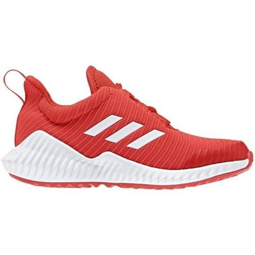 Shoes Children Low top trainers adidas Originals Fortarun K Red