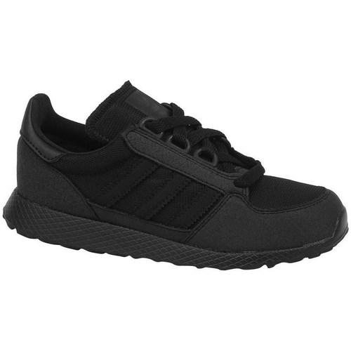 Shoes Children Low top trainers adidas Originals Forest Grove C Black
