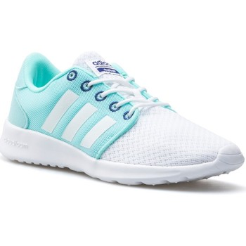 Shoes Women Low top trainers adidas Originals Cloudfoam QT Racer W White, Light blue