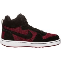 Shoes Children Hi top trainers Nike Court Borough Mid SE GS Burgundy,White,Black