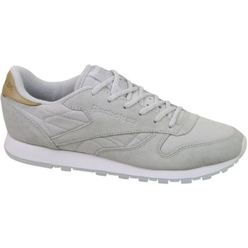 Shoes Women Low top trainers Reebok Sport CL Lthr Sea Worn Grey