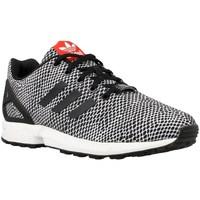 Shoes Children Low top trainers adidas Originals ZX Flux K White, Black