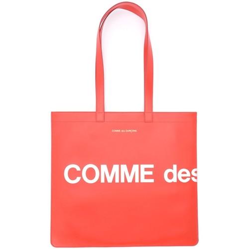 Bags Women Shopping Bags / Baskets Comme Des Garcons Shopping Bag model Huge Logo in Red