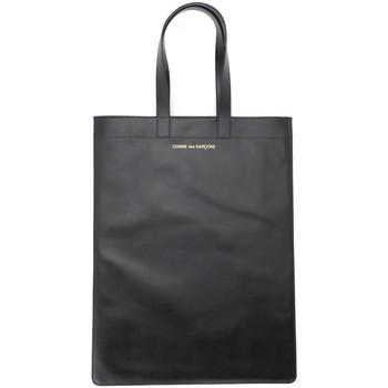 Bags Women Shopping Bags / Baskets Comme Des Garcons Comme Des Garçons shopping bag in black leather Black