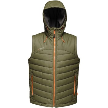 Clothing Men Jackets / Cardigans Professional CALCULATE Insulated Bodywarmer Green