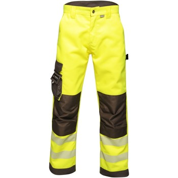 Clothing Men Trousers Professional Tactical Hi Vis Hardwearing Reflective Trousers Yellow Yellow