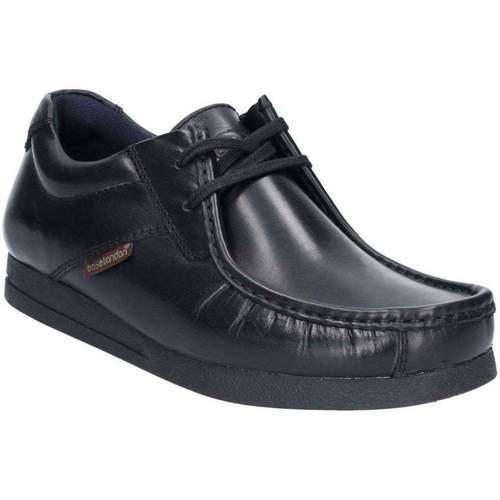 Shoes Men Derby Shoes Base London Event Waxy Lace Up Shoe black