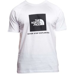 Clothing Men Short-sleeved t-shirts The North Face Red Box Tee White