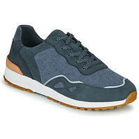 Shoes Men Low top trainers Claé HAYDEN Blue / Cognac