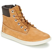 Shoes Children Mid boots Timberland GROVETON 6IN LACE WITH SIDE ZIP Wheat