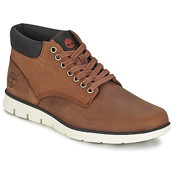 Shoes Men Hi top trainers Timberland BRADSTREET CHUKKA LEATHER RED / Brown / Fig