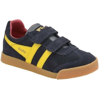 Shoes Boy Fitness / Training Gola Harrier Velcro Kids Trainers blue