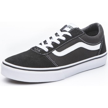 Shoes Children Low top trainers Vans Ward White,Black