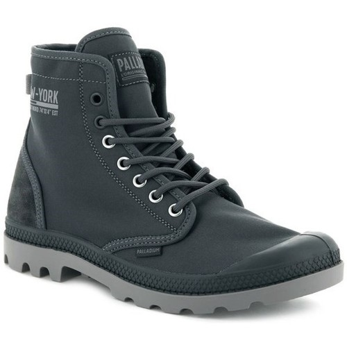 Shoes Men Mid boots Palladium Solid Ranger Nyc Grey