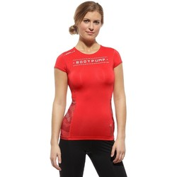 Clothing Women Short-sleeved t-shirts Reebok Sport Les Mills Bodypump Red