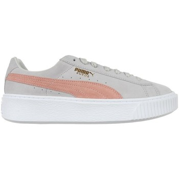 Shoes Women Low top trainers Puma Suede Platform SD Grey