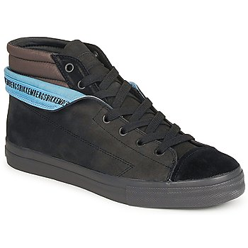 Shoes Men Hi top trainers Bikkembergs PLUS MID SUEDE Black