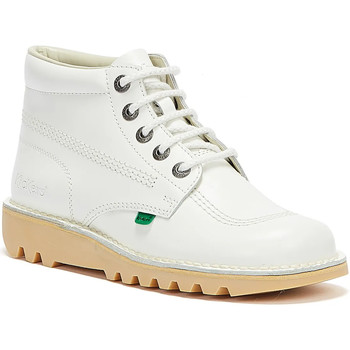Shoes Mid boots Kickers Kick Hi White Leather Boots White