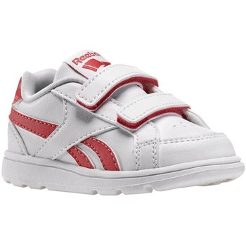 Shoes Children Low top trainers Reebok Sport Royal Prime Whitefearless Pink White, Red