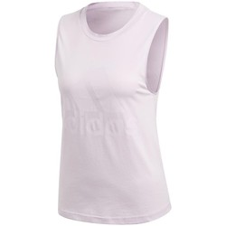 Clothing Women Tops / Sleeveless T-shirts adidas Originals Essentials Logo Tank Top Pink