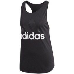 Clothing Women Tops / Sleeveless T-shirts adidas Originals Essentials Linear Loose Tank Black