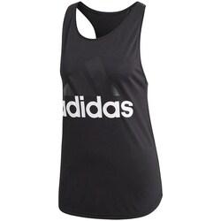 Clothing Women Tops / Sleeveless T-shirts adidas Originals Essentials Linear Loose Tank Black