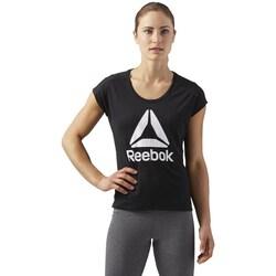 Clothing Women Short-sleeved t-shirts Reebok Sport Workout Ready Supremium 20 Black