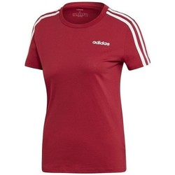 Clothing Women Short-sleeved t-shirts adidas Originals E 3S Slim Tee Red