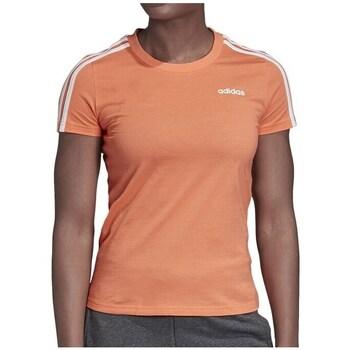 Clothing Women Short-sleeved t-shirts adidas Originals Essential 3S Slim Tee Orange