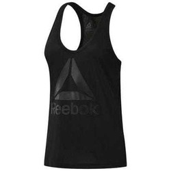 Clothing Women Tops / Sleeveless T-shirts Reebok Sport Workout Ready Supremium 20 Black