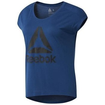 Clothing Women Short-sleeved t-shirts Reebok Sport Koszulka Workout Ready Supremium 20 L Navy blue