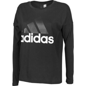Clothing Women Long sleeved tee-shirts adidas Originals Essentials Linear Longsleeve W Black
