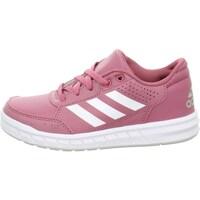 Shoes Children Low top trainers adidas Originals Low Altasport K White, Pink