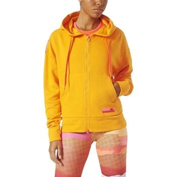 Clothing Women Sweaters adidas Originals Stellasport Mesh Hoodie Yellow