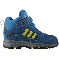 Shoes Boy Snow boots adidas Originals Tecsteunilimuniblu Powderplay Mid Blue, Yellow