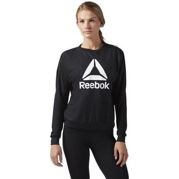 Clothing Women Sweaters Reebok Sport Workout Ready Activchill Crew Neck Black