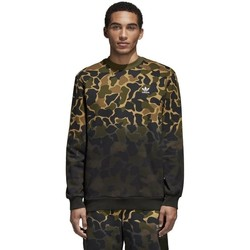 Clothing Men Sweaters adidas Originals Camouflage Green, Brown