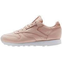 Shoes Women Low top trainers Reebok Sport CL Lthr Nude Nbk Pink