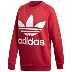 Clothing Women sweaters adidas Originals Oversized Swea Red