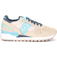 Shoes Women Low top trainers Saucony Shadow sneaker in dove gray and light blue suede and mesh Grey